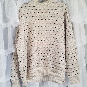 Men's Vintage Over sized Knit Pullover Sweater